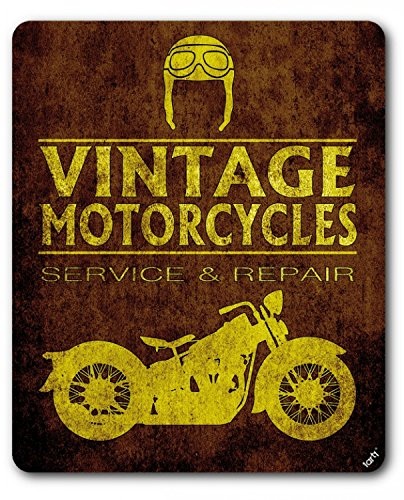 Motociclismo - Vintage Motorcycles Service and Repair Alfombrilla para Ratón (23 x 19cm)