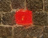 Wisdom LED-Plastersteinleuchte, 6x7cm, rot leuchtende Lichtsteine, 12 VDC, 0,25W, Leuchtstein, Pflastersteine