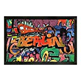 Fussmatte Berlin Graffiti Design Fußmatte Schmutzmatte Türabstreifer Türmatte Fußabstreifer