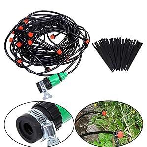 Vakind goutteur auto-régulant seringues jardin pelouse tropfbewässerungssystem avec robinet 15 m de tuyau-connecteurs