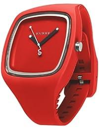 IO?ION!  BI-RED07 - Reloj de cuarzo unisex, con correa de silicona, color rojo