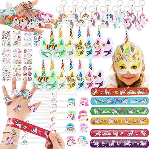 Shinelee 74 Piezas Artículos de Fiesta Unicornio de cumpleaños Regalo para Niños niñas