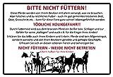 ComCard Bitte Nicht füttern! Pferd stall Warnschild Schild aus Blech, metallsign, Tin