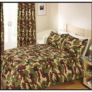 Ashley Mills Bettwäsche-Set, für Einzelbett, Armeecamouflage, Grün