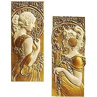 Diseño de Toscano primavera y otoño de esculturas de pared