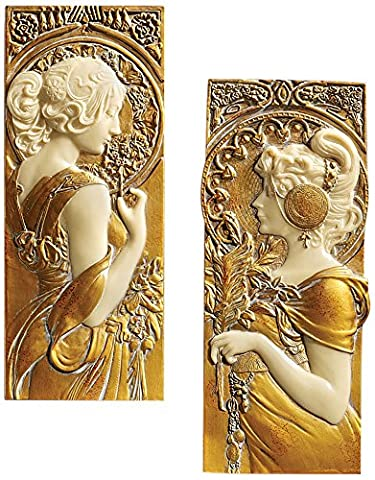 Design Toscano Spring and Autumn Wall Sculptures