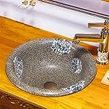 Lavandino Ovale Lavabo Ovale In Arte Cinese Con Vasca In Ceramica Riscaldata A 1350 Gradi 42 * 16 Cm