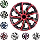 Copricerchi Bicolore / Coprimozzi set / Protezione auto pneumatico / 13 '' / 14 '' / 15 '' molti colori: Rosso, Argento, Rosa, Blu, Verde, Cromo e Oro