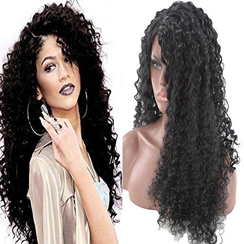 ckige Afrikanische Lockige Haare Mode Dame Teilweise Lange Lockige Haare Kleine Welle Schwarze Haare Chemische Faser Haar Perücke (Schwarzen Lockigen Perücke)