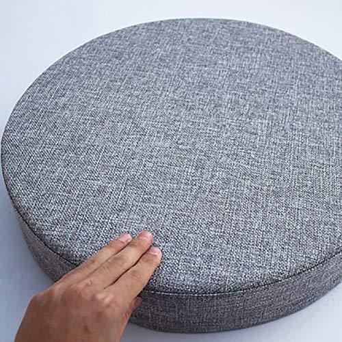 MSM Verdicken Sie Runde Sitzkissen, Tatami Bay-Fenster Balkontür Runde Japaner Sitzkissen Große Futon Stuhl-pad, 8cm Dick-grau Durchmesser: 50cm -