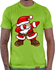 HARIZ  Herren T-Shirt Dab Weihnachtsmann Nikolaus Weihnachten Dab Teenager Trend Halloween Plus Geschenkarte