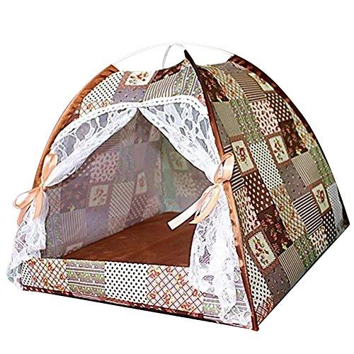 Somedays Tienda de campaña transpirable para verano, gato, perro, mascota, perro, gato, tienda de campaña interior, casa de mascotas, cama, camping, casa, 35 x 35 cm