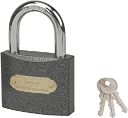 Harrison C I-0320 Iron 3 Pins Padlock with 3 Keys (Clear)