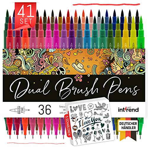 Int!rend Dual Brush Pen Set - Rotuladores