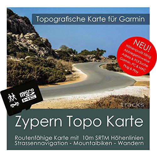 Zypern Garmin Karte TOPO 4 GB microSD. Topografische GPS Freizeitkarte für Fahrrad Wandern Touren Trekking Geocaching & Outdoor. Navigationsgeräte, PC & MAC Garmin Rino Auto