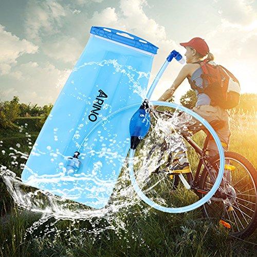 ARINO Trinkblase Trinkbeutel mit Schlauch als Trinksystem für Trinkrucksack Ideal für alle Aktivitäten wie Radfahren Wandern - 4