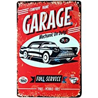Placa de lata con diseño de coche antiguo para fines decorativos, ...