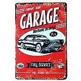 Sobotoo Plaque de décoration murale métallique vintage idéale pour le garage, un bar, un café, la maison ou comme cadeau , G, 20 x 30 cm