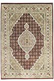 Nain Trading Indo Täbriz 202x142 Orientteppich Teppich Grau/Dunkelbraun Handgeknüpft Indien
