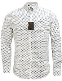 Ben Sherman - Camisa casual - Lunares - con botones - Manga Larga - para hombre