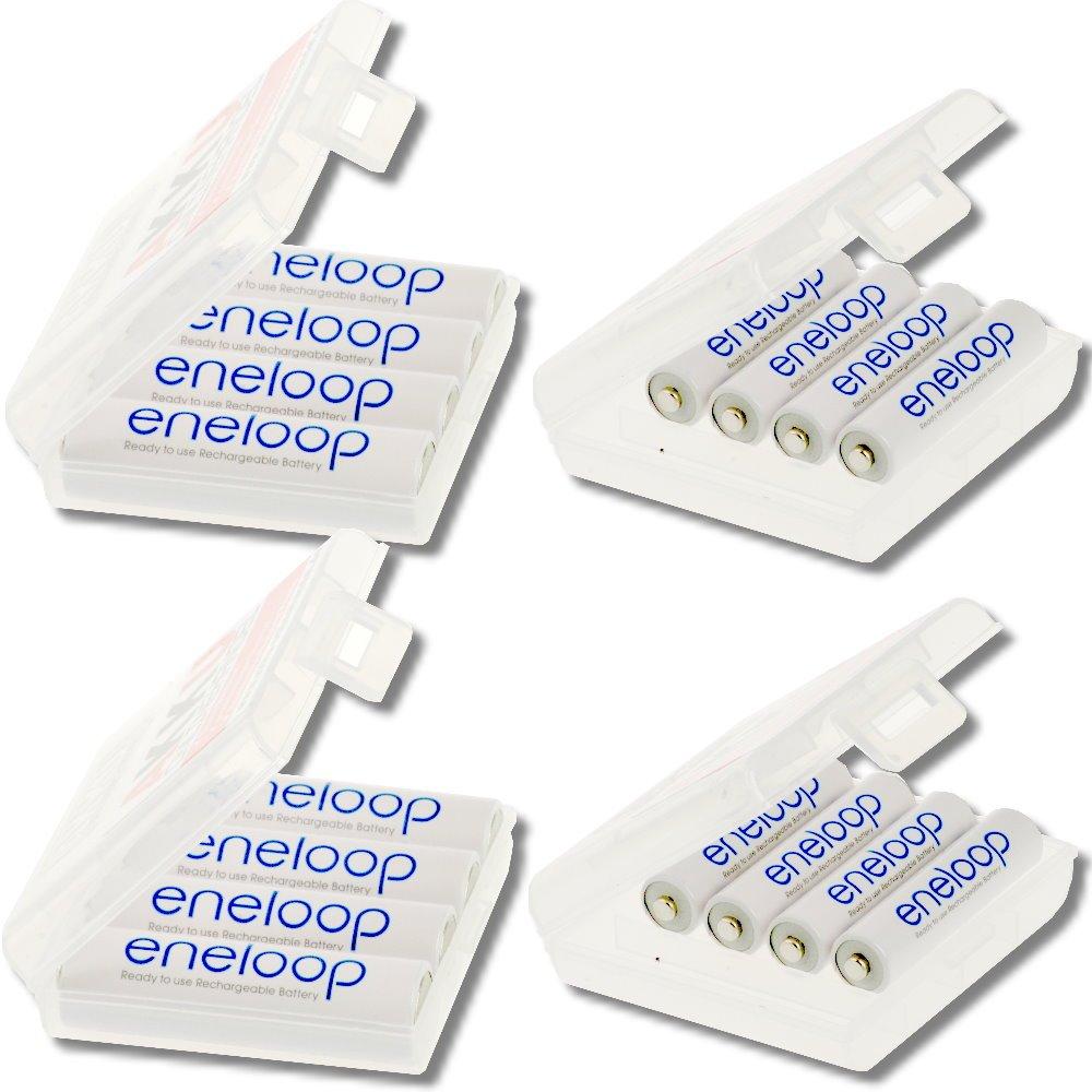 Eneloop Confezione combinata di 16 batterie Sanyo: 8 batterie Mignon AA e 8 batterie Micro AAA in co