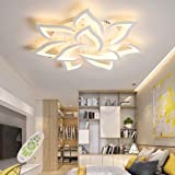 LED Plafonnier Moderne Dimmable Créatif Forme De Fleur Design Lampe De Plafond Métal Acrylique Pétales Lustre Salon Restauran