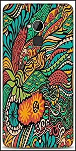 Snoogg Vector Seamless Texture With Abstract Flowers Endless Background Ethnic Sea Designer Protective Back Case Cover For HTC One-Max