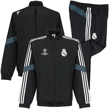 Adidas real madrid uCL survêtement de présentation Small Noir noirblanc: : Sports et Loisirs
