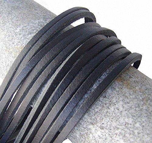 Ensuite 1 Paar Docksider Leder Schuhriemen dunkelblau, Länge 120 cm, Stärke ca. 2,8 mm, Breite ca. 3,00 mm