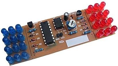 FengYun NE555 CD4017 Kit luci flash a LED di colore rosso blu LED per kit di elettronica fai-da-te