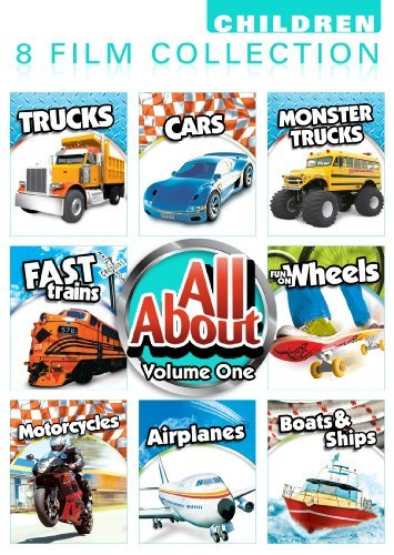 All About 8 Pack Volume 1: Car, Monster Trucks, Trucks, Fast Trains, Fun On Wheels, Motorcycles, Airplanes, Boats And Ships by Anthony Paul - Monster-truck-dvd