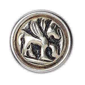 Noosa petite Chunk COINS Pegasus silver white metal