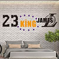 Handaxian The King of Lakers LeBron James Vinyl Sticker For boys room Decoration Decal Basketball Los Angeles mural 150 * 45cm