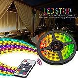 LED Strip, Vorstek TV LED Streifen 5050SMD mit RF Fernbedienung IP65 Wasserdicht RGB 60 Schaltflächen für Innendekoration, 2m