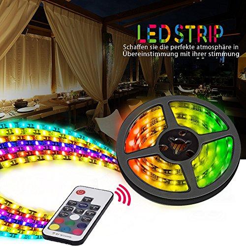 V LED Streifen 5050SMD mit RF Fernbedienung IP65 Wasserdicht RGB 60 Schaltflächen für Innendekoration, 2m (Um Schaltflächen)