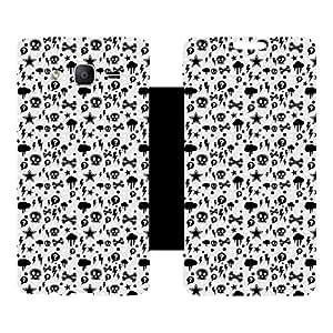 Skintice Designer Flip Cover with hi-res printed Vinyl sticker wrap-around for Samsung Galaxy On5