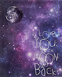 Heritage 1093 Moon & Back Galaxy Wall Decor, 14 x 11-Inch
