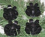 4´er Set EDEL Advent Kerzenhalter / Teller schwarz 5 cm zum verarbeiten Weihnachtsdeko / für Adventskränze Adventskranz Adventskranzkerzenstecker Advenskerzenhalter 5593