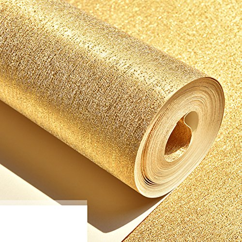porch-ceiling-broad-texture-wallpaper-thickenktv-club-aisle-wallpaper-golden-silver-brushed-wallpape