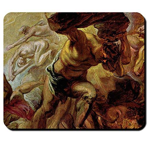 Fall der Titanen Mythos Griechische Mythologie Sturrz der Titanen Gemälde Kunst Riesen Göttergeschlecht - Mauspad Mousepad Computer Laptop PC #16216 (Riesen Uniform)