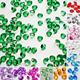 TtS 5000 6MM Scatter Diamonds Table Crystals Acrylic Confetti Wedding Party (Deep green)