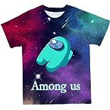 Among Us Camiseta Estampada en 3D Hombre Casual Manga Corta Camiseta de Juego, 18 tamaños