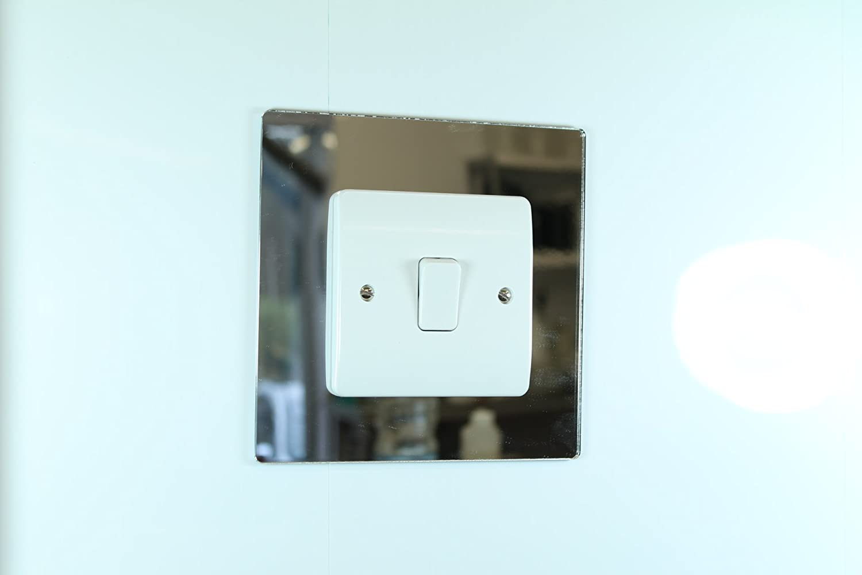 Chrome Light Switch Surround: Classikool Plug Socket & Light Switch Surrounds - 9 Colour Choices [FREE UK  Post] (White, Double Socket Surround): Amazon.co.uk: Kitchen & Home,Lighting