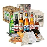 """""""BIERE DER WELT"""" Geschenkidee für Männer INKL. Bierdeckel + Geschenkkarton + Bier-Info. Biergeschenk für Männer oder als ausgefallene Geschenke für den Freund. Die perfekte Geschenkidee für Männer (6x0,33l)"""