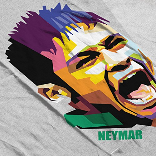 Geometric Celebrity Neymar Women's Vest Heather Grey