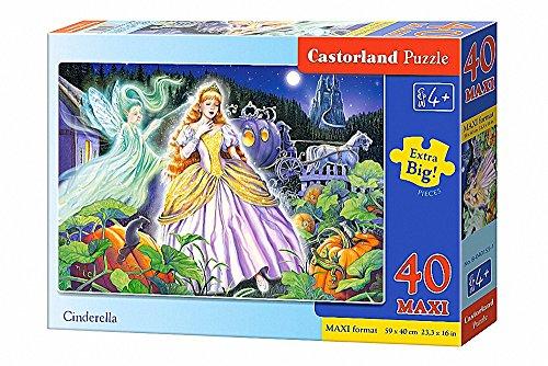 Castorland Cinderella 40 Maxi pcs Puzzle - Rompecabezas (Puzzle Rompecabezas, Dibujos, Niños, Niño/niña, 4 año(s), Interior)