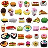 مجموعة ألعاب محايات أقلام الطعام المتنوعة 72 قطعة من Clayees، ألعاب محايات أحجية الفاكهة لحفلات المكافآت للأطفال (طعام)