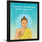 Chaka Chaundh – Suitable buddha quotes wall frames - Buddha frame with quotes for home & office - inspirational Motivational