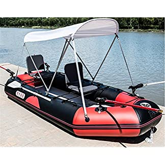 POTA 3-Person Inflatable Boat Set with Oars and Air Pump