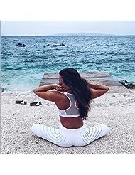 Yvelands Mujeres Corriendo Pantalones Deportivos de Estiramiento Pantalón Hight Cintura Yoga Fitness Leggings
